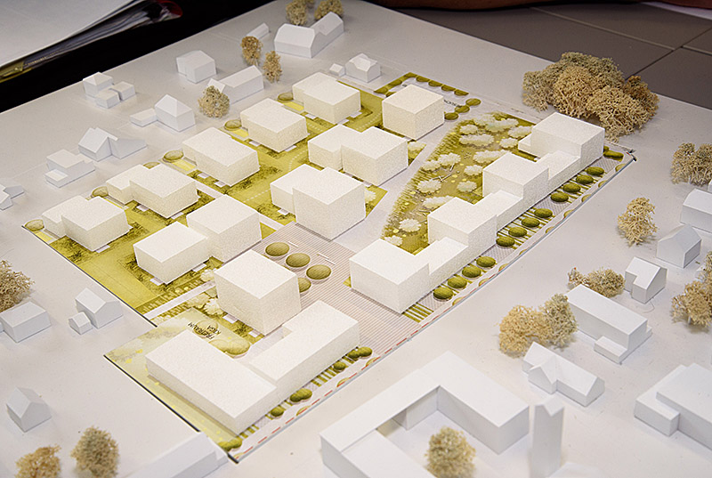Wohnprojekt Dossenweg Wohnbau Wohnungen Modell