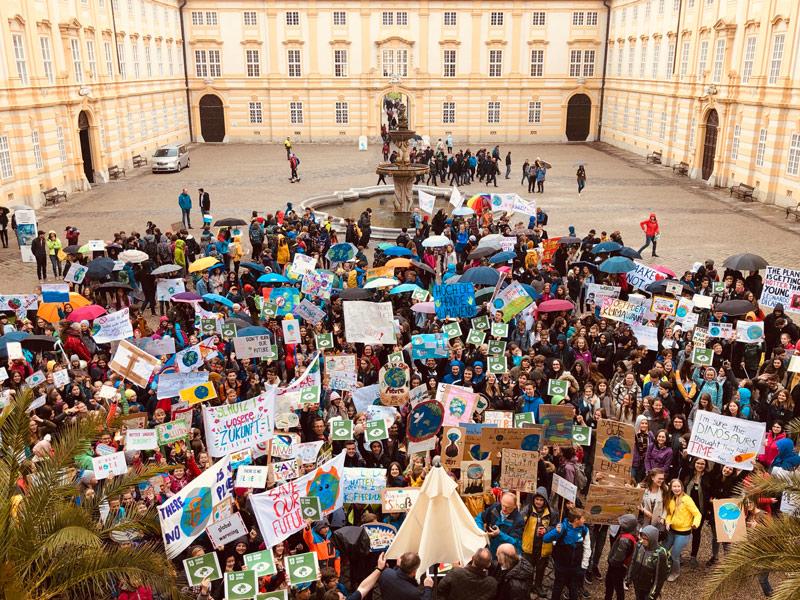 Schüler bei Klimaschutz-Tag