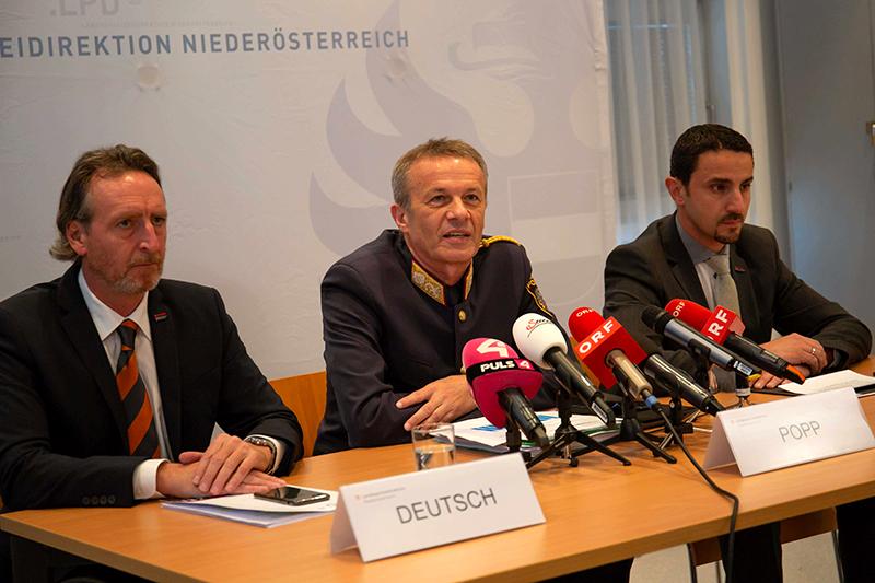 Pressekonferenz Raubüberfälle Banken