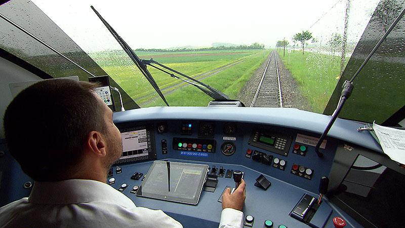 Zugfahrer fährt Zug, Foto von der Veranstaltung