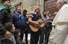 Papst mit Roma