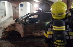 Polizeiauto Brand Villach