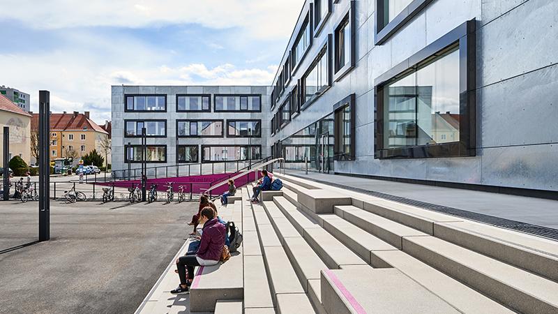 Zubau zu Gymnasium in Sankt Pölten