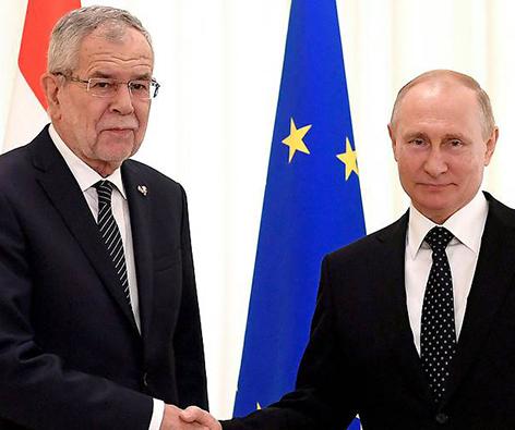 Alexander Van der Bellen und Wladimir Putin treffen sich in Moskau