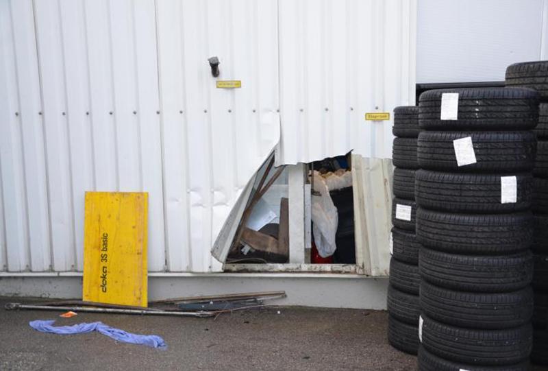 Gestohlene Reifenkomplettsätze