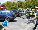 Unfall auf der Hali-Kreuzung