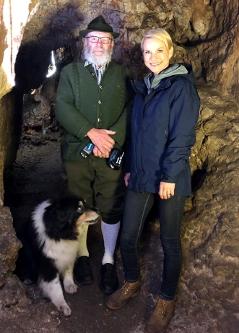 Stefan Kopsky und Kristina Sprenger in der Einhornhöhle in Dreistetten