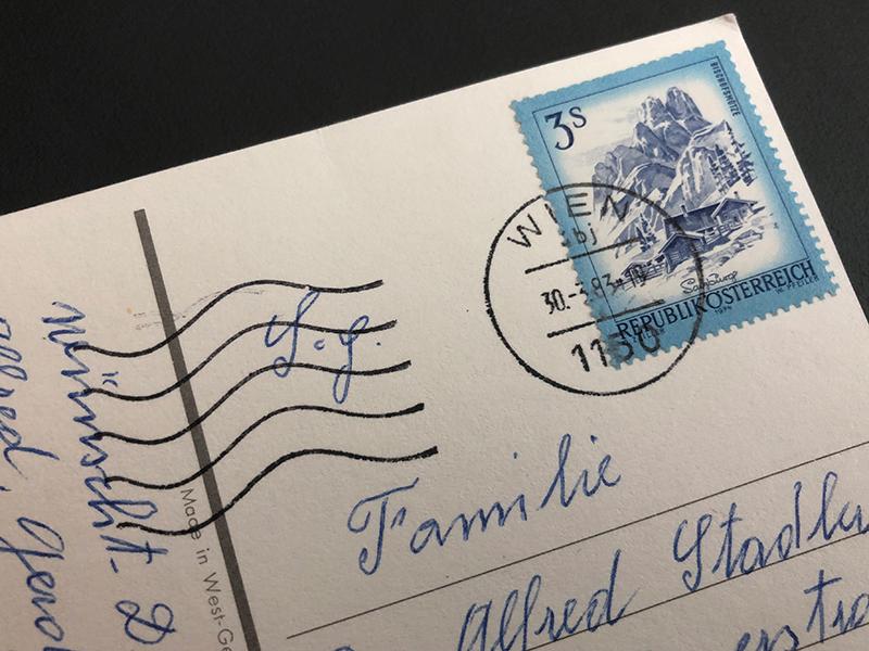 Postkarte nach 36 Jahre angekommen