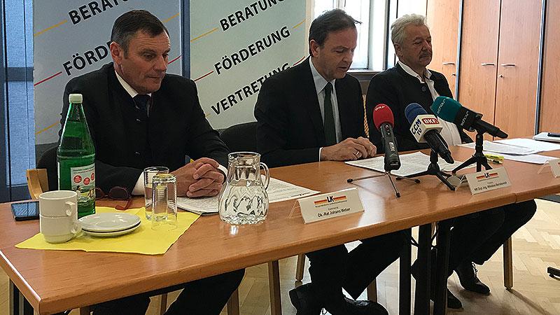 Johann Weber, Nikolaus Berlakovich, Adalbert Endl