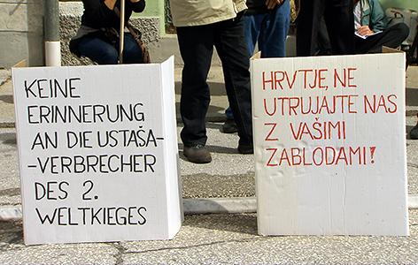 Shod protest ZKP Pliberk ustaši