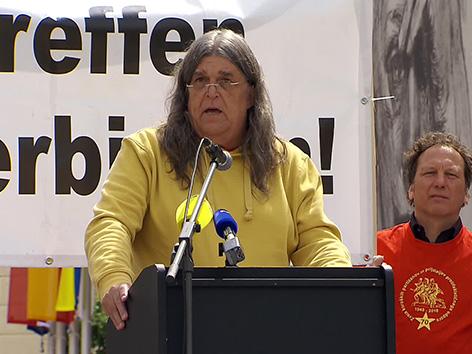 Manifestacija protest ustaši ZKP partizani Andrej Mohar Pliberk libuško prepoved