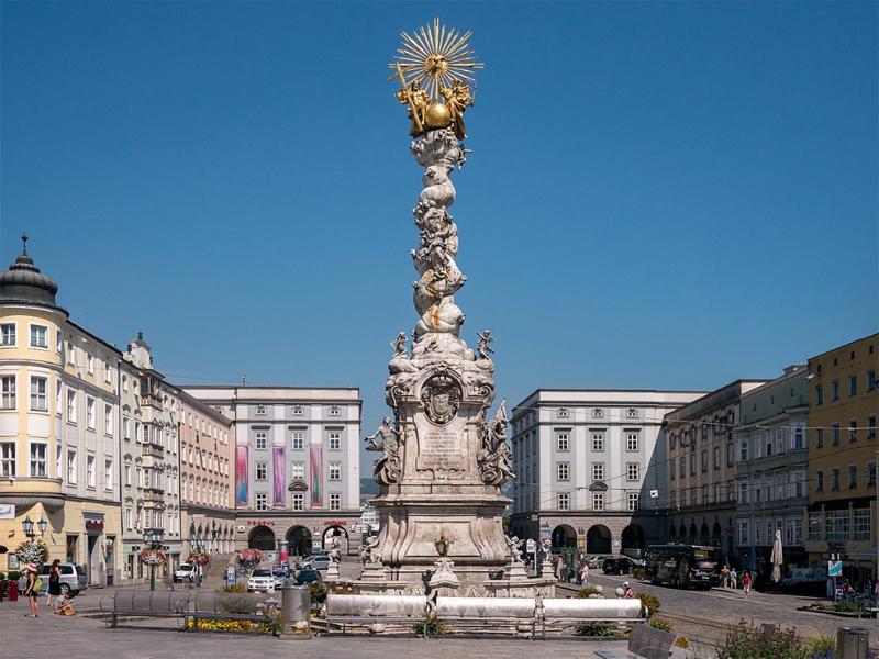 Dreifaltigkeitssäule in Linz am Hauptplatz