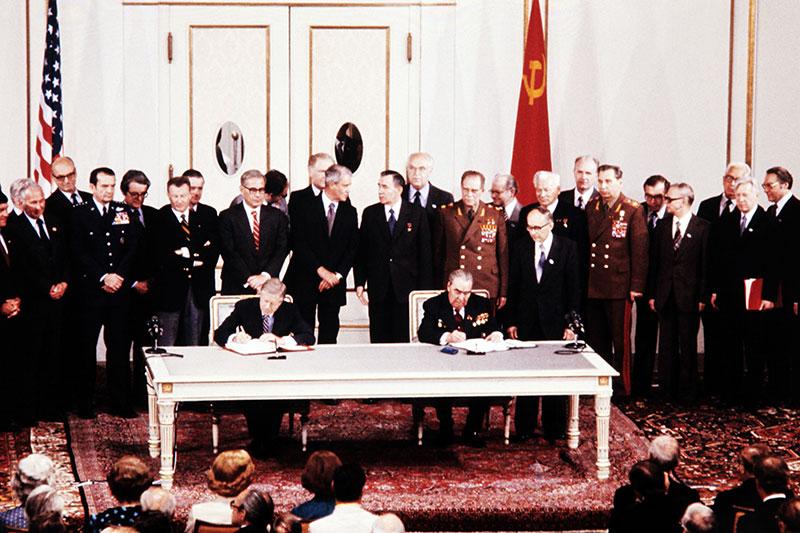 Der SALT II Vertrag wird 1979 in Wien unterzeichnet