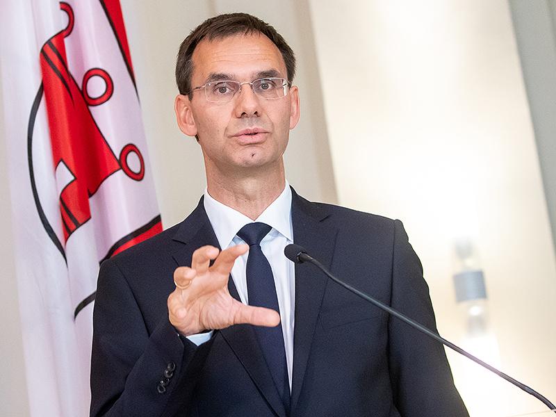 Landeshauptmann Markus Wallner (ÖVP) bei der Pressekonferenz