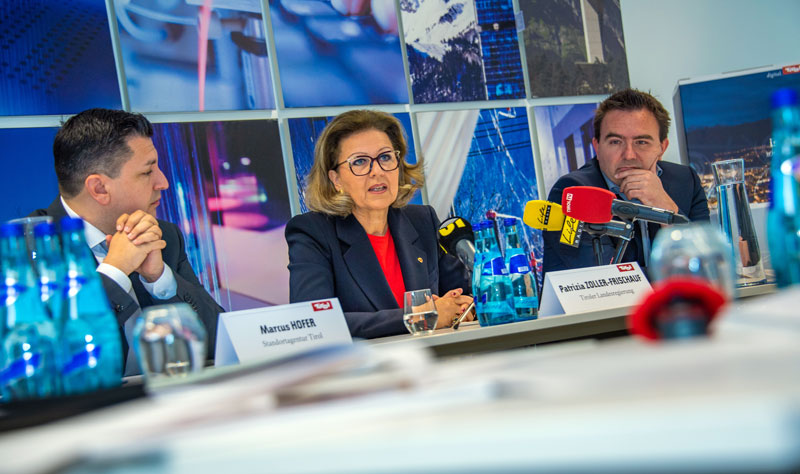 Marcus Hofer, LRin Patrizia Zoller-Frischauf und Bernhard Rittenschober