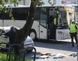 Bus rammt Fußgänger in Schallmoos