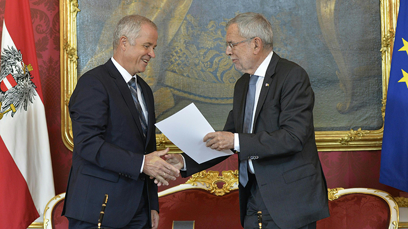 Johann Luif und Alexander Van der Bellen