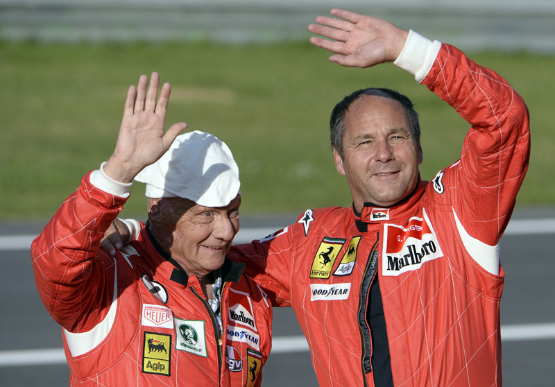 Gerhard Berger und Niki Lauda