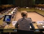 Barbara Makal aus Leopoldsdorf bei Wien (Bezirk Bruck an der Leitha) an ihrem Arbeitsplatz im Sekretariat der Rat der Europäischen Union