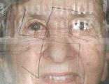 Fotos der beschmierten Porträts
