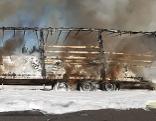 LKW brannte auf der A2 aus