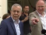 Bundespräsident Alexander Van der Bellen am Weg zur Stimmabgabe im Rahmen der EU-Wahl am Sonntag, 26. Mai 2019, in Wien