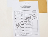 Wahlkarte, EU-Wahl