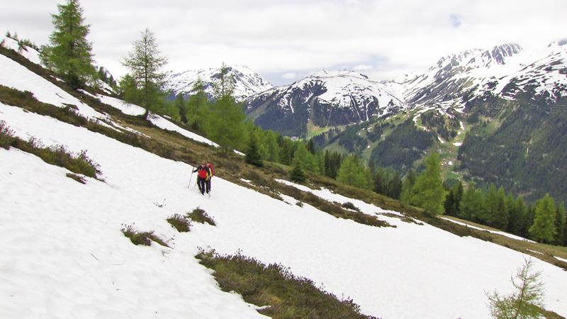 Schneefelder Gefahren am Berg