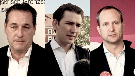 Collage von Strache, Kurz und Strolz