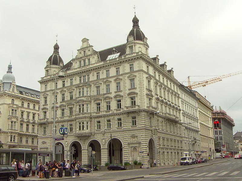 Das Amerika-Haus neben dem Wiener Rathaus