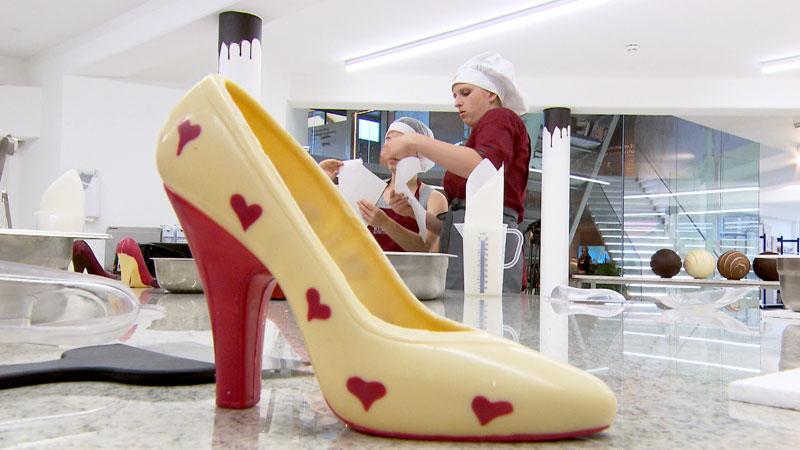 Schuh aus Schokolade